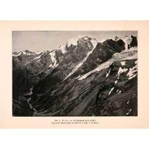 1899 Print Ortler Mountain Range Alps Tyrol