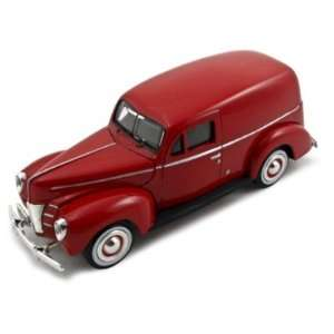 1940 Ford Sedan Delivery Red 124 Diecast Car Model Toys & Games