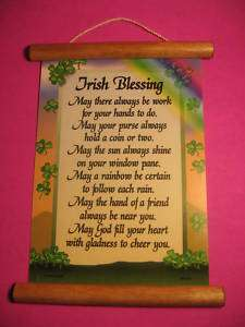 Irish Blessing   Wall Scroll   Sku# 627