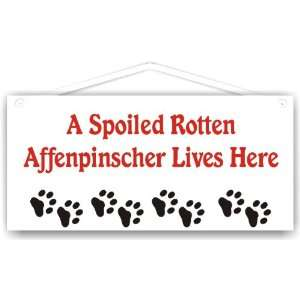 A Spoiled Rotten Affenpinscher Lives Here Everything Else