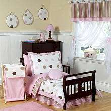 JoJo Designs Pink and Chocolate Mod Dots Collection Toddler Bedding