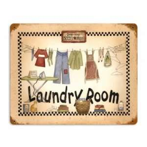 Laundry Room Vintage Metal Sign Home Mom Home & Kitchen