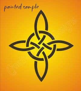 STENCIL Celtic Knot Circle Irish Witch Signs Wall Art