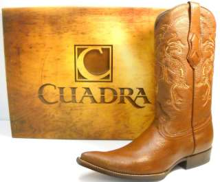 DEER skin MENS COWBOY BOOTS honey color SIZE 8 western wear