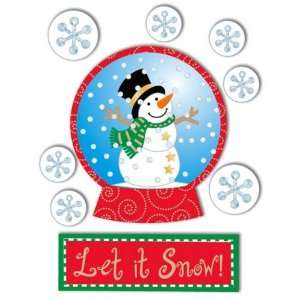Dimensional Stickers, Snow Globe With Snowman Arts, Crafts & Sewing
