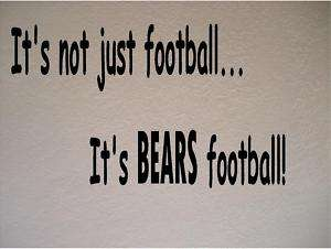 Chicago Bears Football Vinyl Wall Decal Sticker Sports