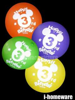 Mickey Mouse Birthday Party 8x Pcs 3 rd Balloons m997