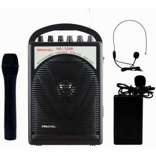 PA System with Wireless Microphones Black 40 Watt 0230494822295
