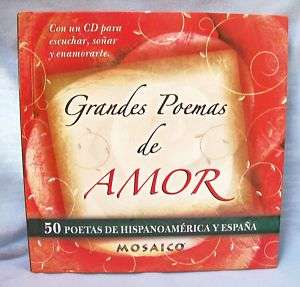 GRANDES POEMAS DE AMOR 50 Poetas + CD SPANISH *NEW*