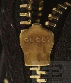 Gucci Black Suede Monogram Shearling Jolicoeur Large Tote Bag