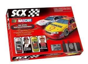 SCX 1/32 Tri Oval SuperSpeedway NASCAR Slot Car Set 80970 NEW