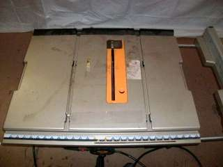 RYOBI 10 INCH PORTABLE TABLE SAW MODEL NUMBER RTS20