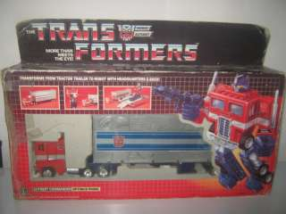 Transformers Bloated G1 Optimus Prime Complete w/ Box
