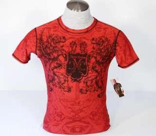Xtreme Couture Mens Red Tattoo Rash Guard Shirt XL NWT
