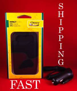 OTTERBOX IMPACT CASE for HTC VIVID BRAND NEW BLACK OTTER BOX w/ Car