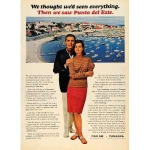 Ad Pan American Airways Punta del Este Uruguay   Original Print Ad