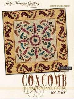 JUDY NIEMEYER COXCOMB PAPER FOUNDATION PIECING QUILT PATTERN