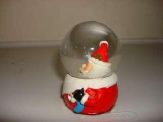 SNOW GLOBE SANTA CLAUSE W/ TOYS CHRISTMAS TREE NEW