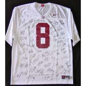 Alabama Crimson Tide Julio Jones Team Signed Autographed