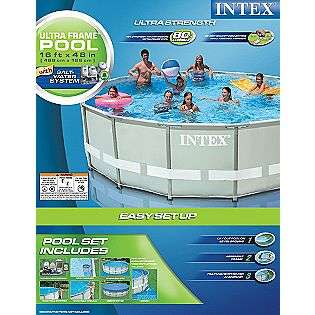 16 x 48 Ultra Frame Pool Set (w/ 2000gph Filter Pump and Saltwater
