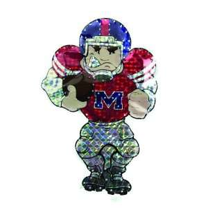 Ole Miss Rebels Lighted Outdoor Football Player Window Yard Art Decor