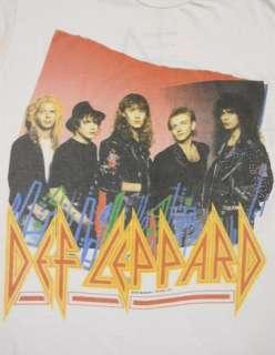 LEPPARD Hysteria 1987 1988 Rock Music CONCERT Tour T Shirt XL J