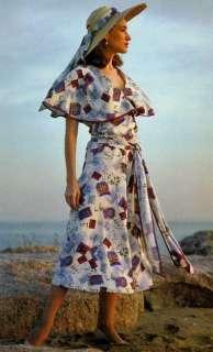 Folkwear Retro 20s 30s Beach Pyjamas / Jumpsuit w/Palazzo Pants Sewing