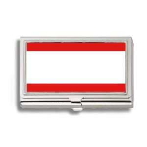 Bulgarian Turks Flag Business Card Holder Metal Case