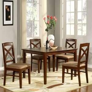 Imports 5 piece Set Lisbon Cushion Seat Dining Set,