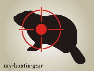 Woodchuck B STENCIL Shooting Varmint Cross hair Target