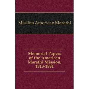 American Marathi Mission, 1813 1881 Mission American Marathi Books