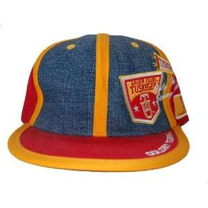 NCAA Tuskegee University Golden Tigers Fitted Hat Cap   Red/Yellow