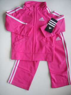 ADIDAS NWT Girls Track Suit Jacket Top Pants 12 18 24 m 885670296393