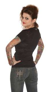Wild Rose Black Tattoo Sleeve Shirt Sugar Skull Tattoo Sleeves