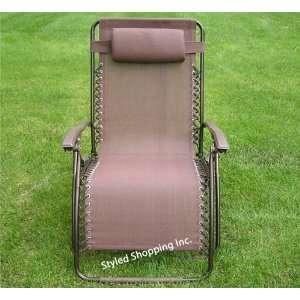 Extra Wide Brown Zero Gravity Chair Patio, Lawn & Garden