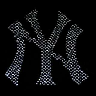 NY   New York Yankees theme iron on rhinestone transfer