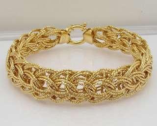 Technibond Diamond Cut Woven Bracelet 14K Clad Silver