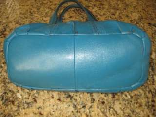 TIGNANELLO * AQUA BLUE PEBBLED SOFT LEATHER HOBO VITY HANDBAG $179
