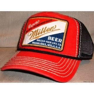 MILLER Beer Logo Embroidered Mesh Baseball Cap HAT