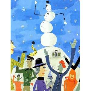 Funky Snowman (Holiday Boxed Cards) (9780735316966) Books