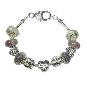 Gems (RB742) Silver Plated Victoria Plum Style Bracelet Best Friends