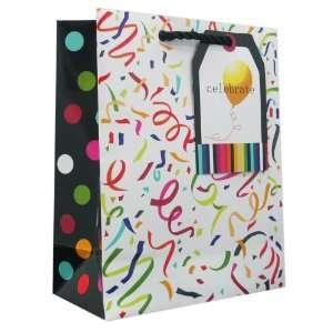 120 Pcs Premium Paper Gift Bags Bulk 10 x 8 x 4 (Confetti