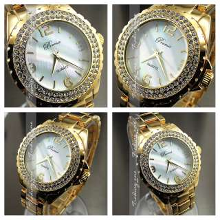 NEW GOLDEN HOURS CLOCK DIAL OYSTER CRYSTAL STEEL MEN WOMEN WRIST WATCH