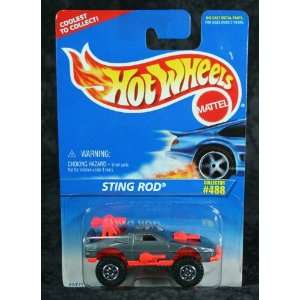 Hot Wheels 1996 Collector #488 Sting Rod Grey 1/64 Toys