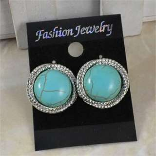Vintage Look Elegant Tibet Silver Turquoise Bead Necklace Bracelet
