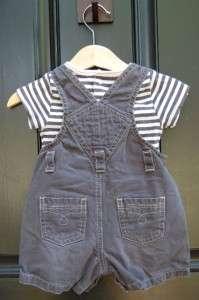 Boys Old Navy Vintage Baby blue boysuit overalls 3 6 mo