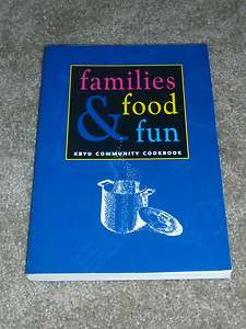 Families Food and Fun KBYU Community Cookbook Mr. Rogers Big Bird Jim