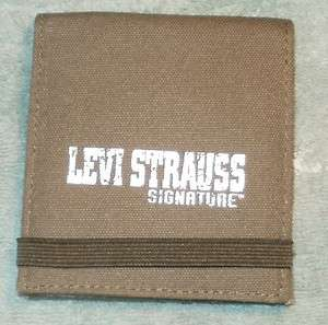 MENS LEVI S LEVI ARMY GREEN BIFOLD CANVAS WALLET NEW WITH TAG