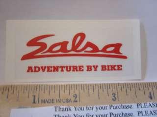 SALSA CYCLES Frame Mountain Bike Race DECAL STICKER
