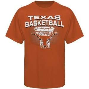 NCAA Texas Longhorns Burnt Orange Distressed Net T shirt